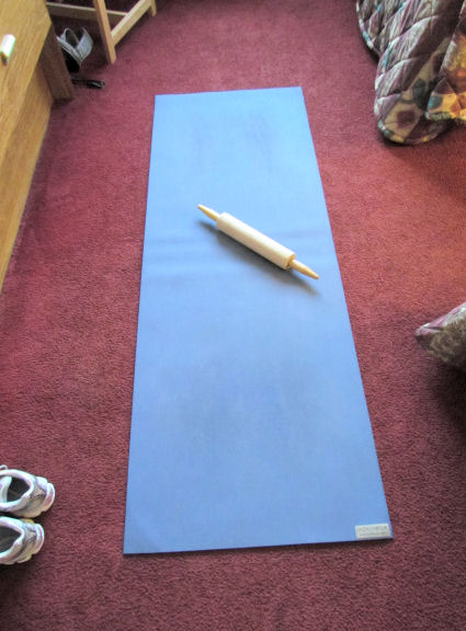 Yoga Mat and Foodie Rolling Pin Foam Roller