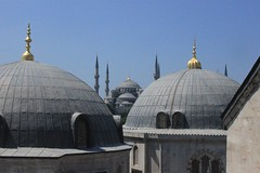 Istanbul: Hagia Sophia (view of Blue Mosque) (zug55) Tags: church turkey cathedral minaret trkiye istanbul mosque unescoworldheritagesite unesco worldheritagesite mausoleum bluemosque hagiasophia byzantine constantinople byzantium sultanahmetcamii ayasophya byzantineempire sultanahmedmosque istanbullovers