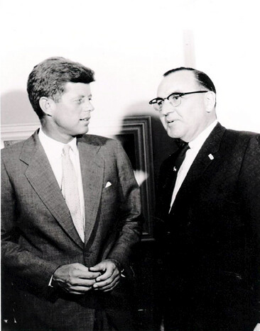 JFK with Pat Brown