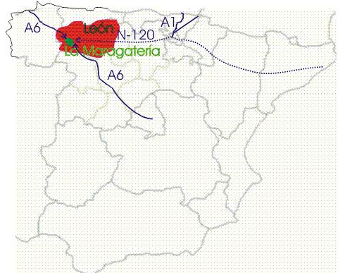 Mapa Maragateria