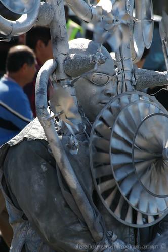 Silver Pinwheel Man No. 2