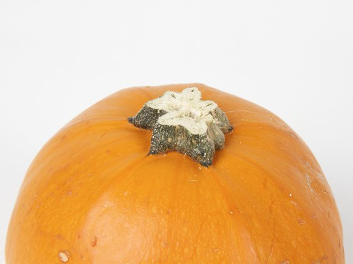 Pumpkin with stem trimmed and smoothed