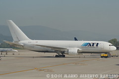 ATI - Air Transport International Boeing B767-223(F) N312AA (Mario Alberto Ravasio) Tags: west al air transport international boeing lime bergamo serio luxemborg ati opf orio bgy n312aa b767223f