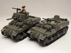 "Canadian Ram Tank Mk.II & Ram Kangaroo APC (with new front slope) (""Rumrunner"") Tags: world 2 army war gun tank lego wwii machine canadian 2nd ii kangaroo ww2 ww apc ram carrier worldwar2 brigade mkii allies personnel armoured brickarms m1919"