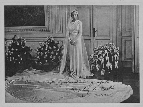 Beatriz de Borbon el dia de su boda