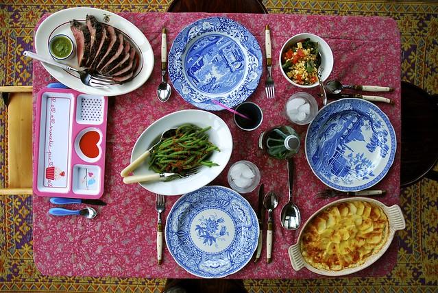Sunday dinner table