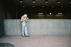 marlboro man (Terry Barentsen) Tags: california street old man film analog point san francisco shoot kodak shots cigarette candid smoke smoking contax marlboro times t3 portra hella 160 2011