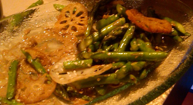 green beans and lotus