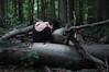 (laura zalenga) Tags: trees light woman black green me nature girl forest self dark neck back shoulder ©laurazalenga