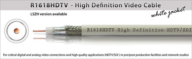 see enlarged R1618HDTV-BW - High Definition Video Cable (white jacket)