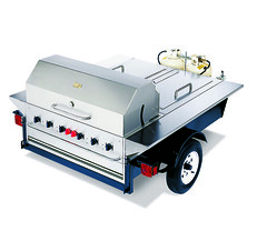 Towable Tailgating Trailer Grill/BBQ