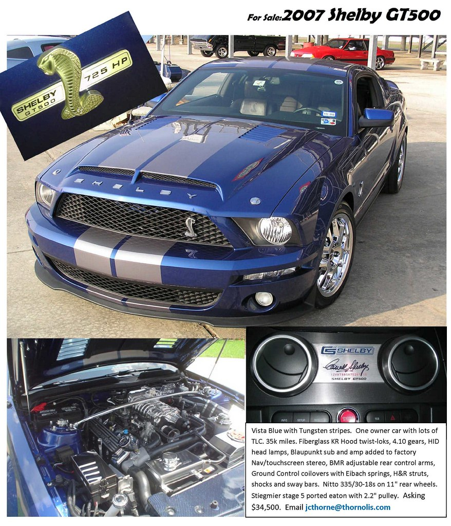 Ford Mustang Forums Corral Net: For Sale 2007 Vista Blue GT500 For Sale