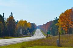 Highway in the Upper Peninsula (alexanderwrege) Tags: michigan upperpeninsula eddiebauer universityoftoledo picturedrocksnationallakeshore firstascent americanlanguageinstitute nemoequipment nemotents nemomoto nemopentalite nemoobielite