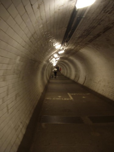 Tunnel from Greenwich, under the Thames