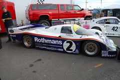 Porsche 956/962 Group C endurance racer right profile (wbaiv) Tags: porsche road racing laguna seca monterey outdoors open sky 956 962 1980s endurance racer car sports mid engine 6 cylinder flat turbo supercharged twin turbine compressor intercooler intercooled fuel injection air jacks aluminum monocoque tube frame aft transmission spacer 4 valves per dual over head cams dohc watercooledheads aircooledcyliders rothmans texaco newman dyson imsa lemans prototype european gruppe c nikon d40x 1855 1855mm f4556 automobile vehicle cars automobiles vehicles