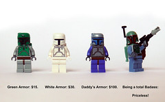 Priceless (Oky - Space Ranger) Tags: white green star funny lego priceless badass master card commercial boba wars clone visa jango fett bricklink