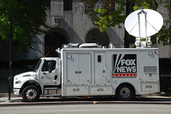 Fox News Channel (So Cal Metro) Tags: news television truck la losangeles tv media downtown satellite reporter foxnews fox freightliner localnews newsvan newstruck