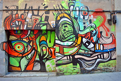 34 (chrisshots) Tags: barcelona street art colors photoshop fun graffiti spain nikon espana 34 gràcia chiky chrisshots d3000 ringexcellence
