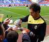 Diego Lopez autograph signing, Wigan Athletic v Villarreal CF, 7 August 2011