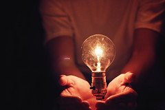 (AmyJanelle) Tags: light red white lamp lightbulb photoshop hands purple magic magenta floating levitation knowledge tones