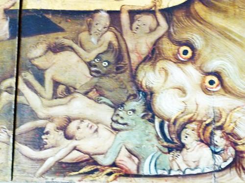 Stadtkirche Bad Wildungen, Der Weltenrichter, Detail: Höllenpforte