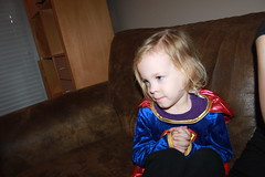 IMG_9126 (drjeeeol) Tags: halloween costume katie superman superhero cape supergirl triplets toddlers 2011 36monthsold