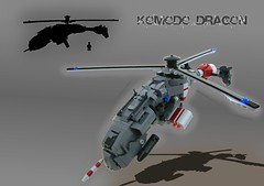 Komodo Dragon Copter (aabbee 150) Tags: art photoshop dragon lego gimp 150 helicopter fi concept copter sci komodo fy foitsop aabbee