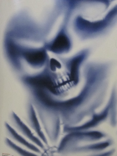 Airbrushed Skeleton