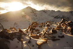 2851m , Pirin mountain (.:: Maya ::.) Tags: pink winter sunset mountain snow nature view pyramid peak bulgaria pirin   bezbog       polejan