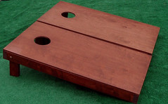 Rosewood Stained Cornhole Boards