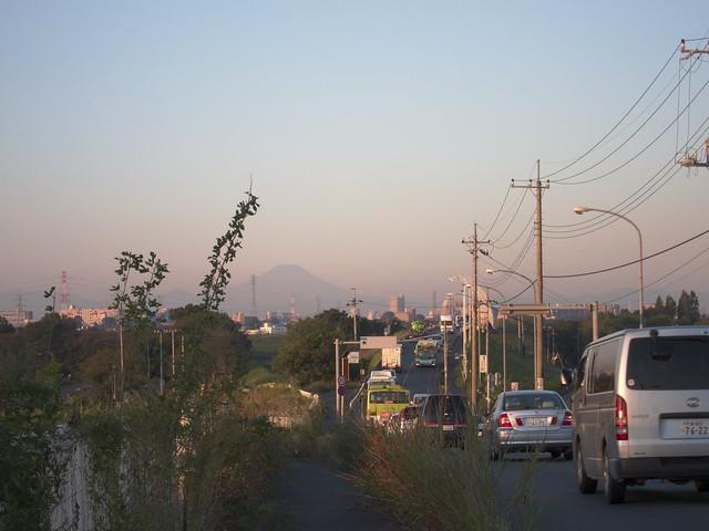 秋ヶ瀬橋 富士山