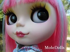 Rainbow Custom Blythe by MoleDolls
