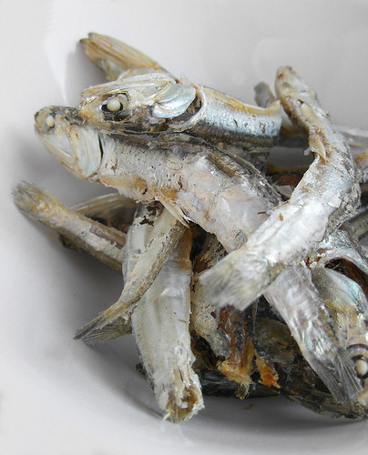 Dried anchovis for Korean dashi