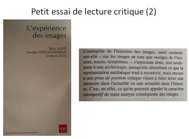 Petite essai de lecture critique (2)