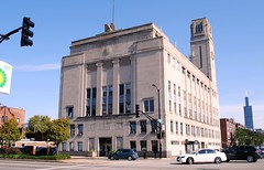 Workers United Hall, 333 S. Ashland Avenue, Chicago illinois (Cragin Spring) Tags: old city urban chicago building tower hall midwest searstower union chitown il westside bp chicagoillinois chicagoil ashlandave unionhall willistower garmentworkersunion