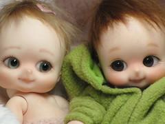 Pika & Nappy (ElfinHugs) Tags: baby by nappy adorable shell tiny choo bjd custom soom chubby pikachoo
