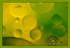 Green and Yellow (Explored) (lclower19) Tags: abstract macro green water yellow nikon bubbles oil tamron 90mm d90 oilandwater weekly552011