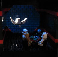 when the Cat goes away ... (JETfri) Tags: lego poker c3p0 vader clone imperialshuttle legovignette ffol