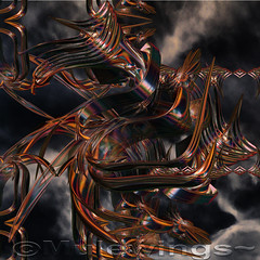 Twisted (Mulewings~) Tags: 3d rainyday shapes fractal twisted depth metals backround incendia