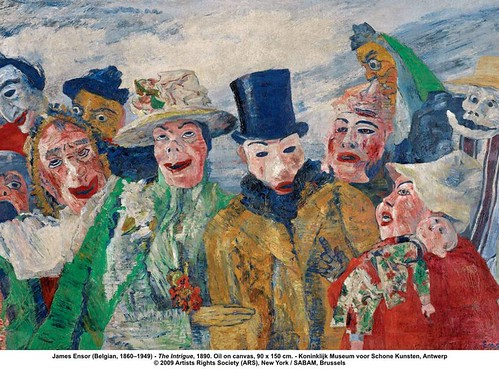 James Ensor (Belgian, 1860–1949) - The Intrigue, 1890 by artimageslibrary