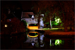 Watergate Reflections (jammo_s) Tags: old reflection night canal cathedral tripod norwich middleages floodlight pullsferry jammo canoneos60d medievalnorwich sigma1770os
