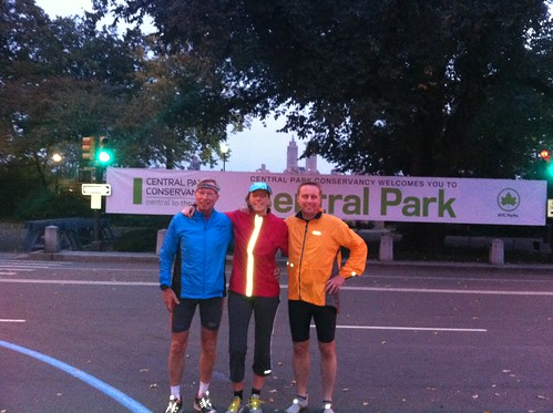 Exploring the New York Marathon route in Central Park