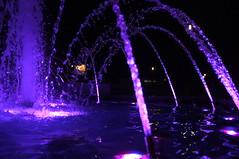 Tamajdan Fountain 2 (bmhammo) Tags: blue red color colour water fountain night dark purple time jets serbia belgrade splash tamajdan tasmajdan