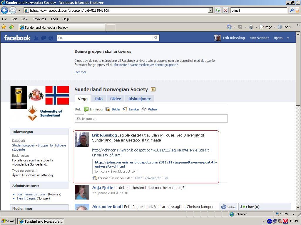 sunderland norwegian society