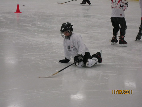 11/5/11: Much time was spent getting up from the ice.