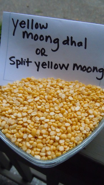 Yellow moong dhal or split yellow moong (lentils)