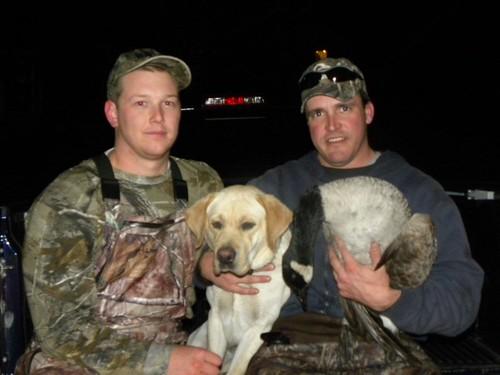 Tucker - 1st goose Oct 2011