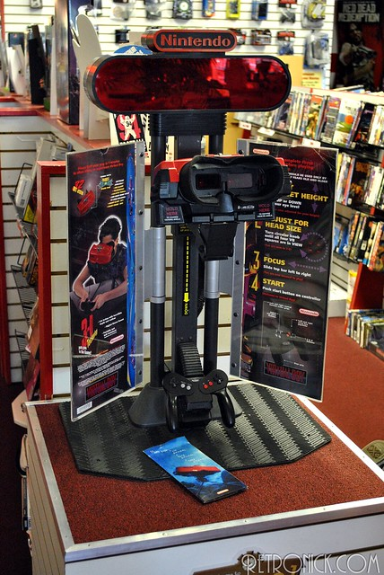 Virtual Boy in-store display