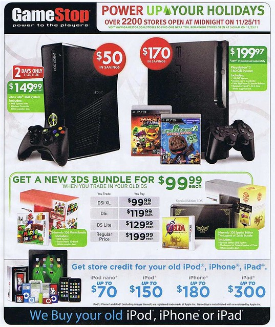 GameStop Black Friday 2011 Ad Scan - Page 1