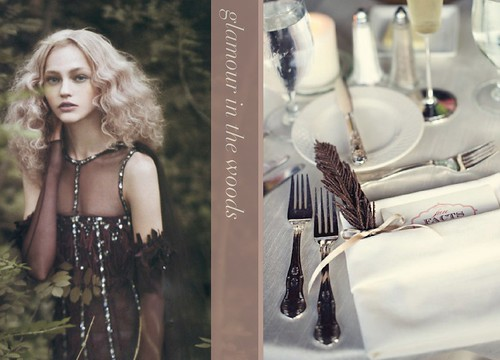 glamour in the woods tabletop inspiration fall
